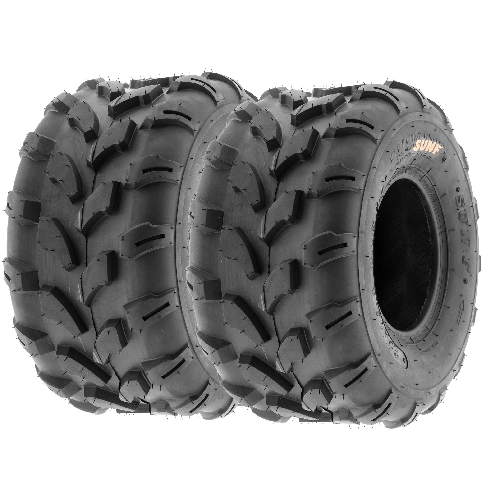 SunF 19x9.5-8 ATV UTV Tire 19x9.5x8  Knobby Replacement 6 Ply A003 Tubeless