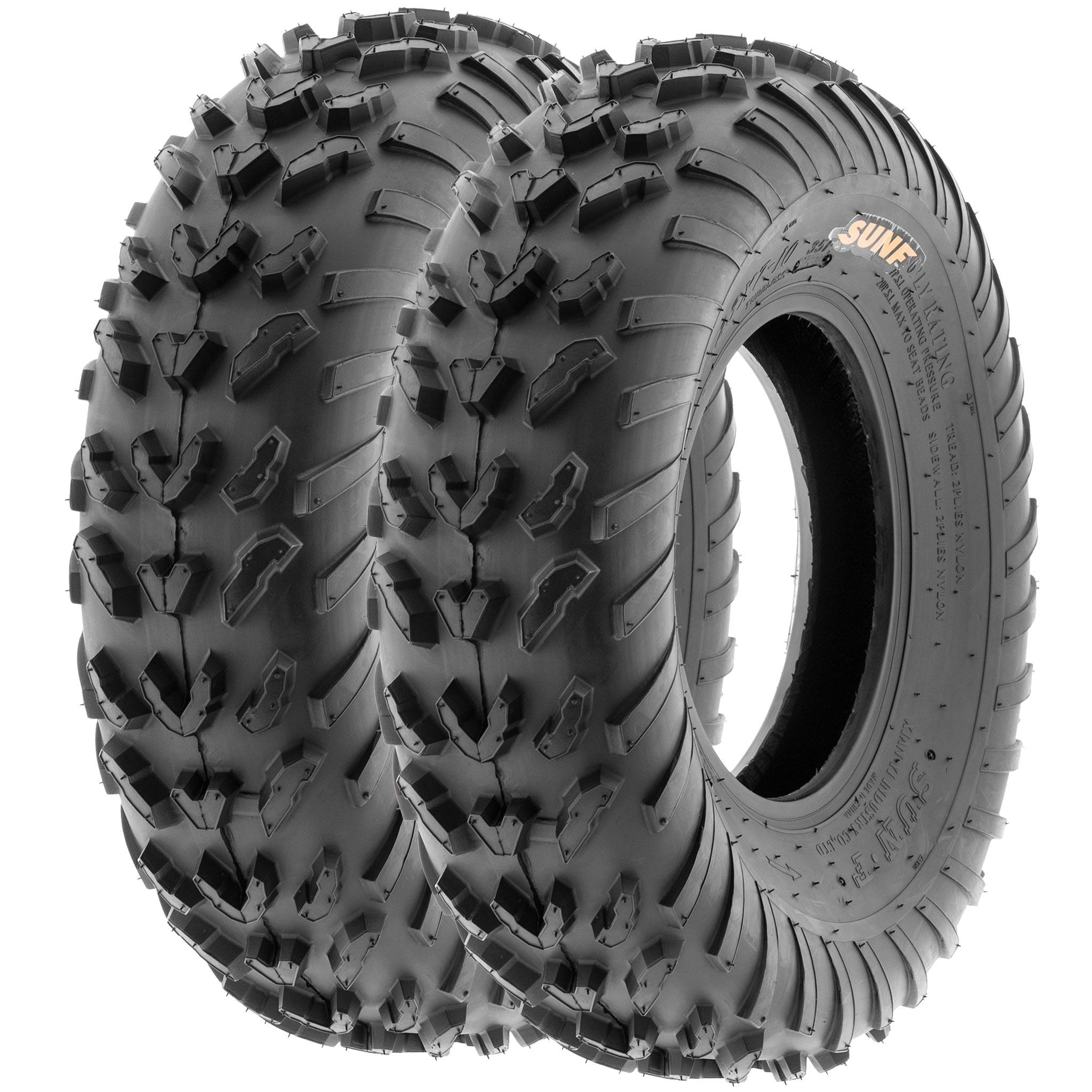 Pair of SUN.F ATV UTV QUAD Tires 2 22X10-10 22X10X10   6PR//004