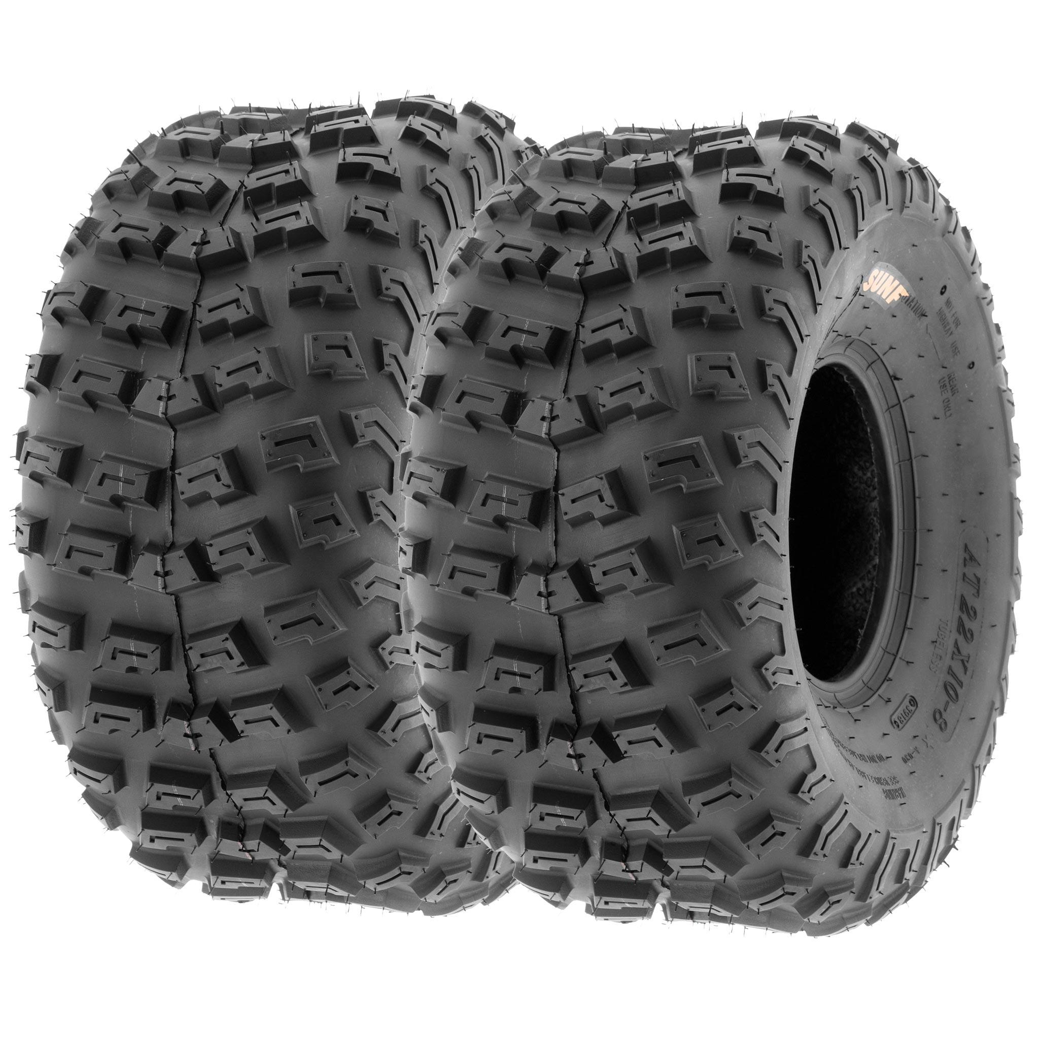 2 21x7-10 21x7x10 ATV UTV All Terrain AT 6 Ply Tires A001 by SunF Pair of